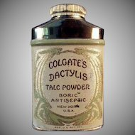 Vintage Talc Tin - Old Sample Dactylis Powder Tin by Colgate