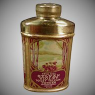 Vintage Talc Tin - Old Toilet Talcum Trial Size Tin - Sylvan Violet Sample