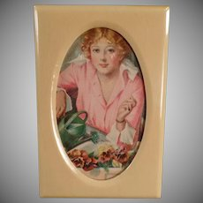 Vintage Picture Frame - Old Celluloid Frame for a Small Photo - Nice Dresser Accessory