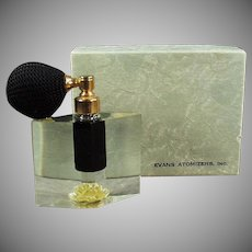 Vintage Perfume Atomizer - Lucite - Old Evans Arlene with Original Box