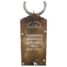 Vintage Spring Scale - Old Landers Improved Balance No.2 Hanging Scale - 50 Pound Measure