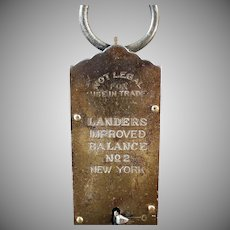 Vintage Spring Scale - Old Landers Improved Balance No.2 Hanging Scale - 50 Pound Measure