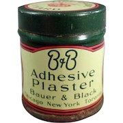 Vintage Medicine Tin - B and B Adhesive Plaster - Old Medical Advertising