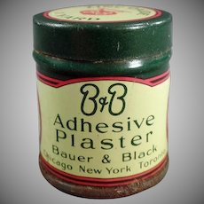 Vintage Medicine Tin - B and B Adhesive Plaster - Old Medical Advertising