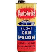 Vintage Automotive Advertising - Old Autobrite Car Polish Tin - Nice Graphics