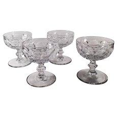 Vintage Heisey Glassware #1506 Provincial Pattern - Set of 4 Sherbets