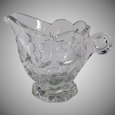 Vintage Heisey Glassware - Clear #1506 Provincial Pattern Cream Pitcher