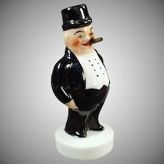 Vintage Smoking Novelty Porcelain - Little Lord Poffy with Original Box - Western Germany