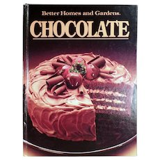 Vintage Cookbook - Old Better Homes and Gardens Chocolate Recipe Book