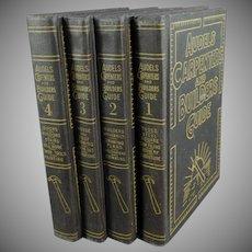 Vintage Audels Carpenters and Builders Guide - 1951 - Four (4) Book Set