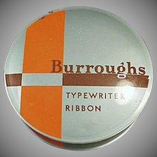 Vintage Typewriter Ribbon Tin - Old Burroughs Adding Machine Co. Tin
