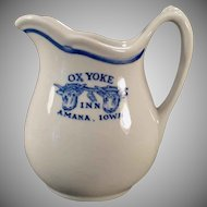 Vintage Restaurant China - Old Amana Iowa Ox Yoke Inn Advertising - Cream Pitcher
