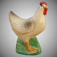 Vintage Celluloid Baby Rattle - Old Barnyard Hen Celluloid Toy