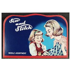 """Vintage Sewing Needle Book - Mother and Daughter """"Sew and Stitch"""""""