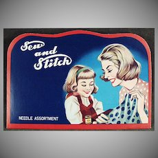 "Vintage Sewing Needle Book - Mother and Daughter ""Sew and Stitch"""