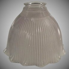 Vintage Holophane Light Fixture Shade - Single Frosted I-5 Old Holophane