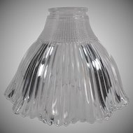 Vintage Holophane Light Fixture Shade - Old Pagoda Shade - Small Neck Size