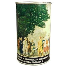 Vintage Tin Bank - Old American Can Co. Declaration of Independence Bank