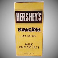 Vintage Candy Box - Old Hershey's Krackel Candy Bar Box