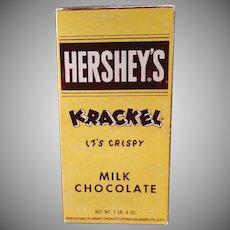Vintage Candy Box - Old Hershey's Krackel Candy Bar Box