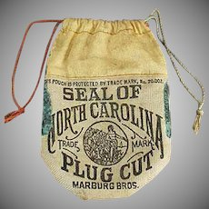 Vintage Tobacco Advertising - Old Seal of North Carolina Tobacco Pouch