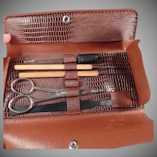 Vintage Dissecting Set - Old Clay-Adams - German Dissecting Tools with Pouch