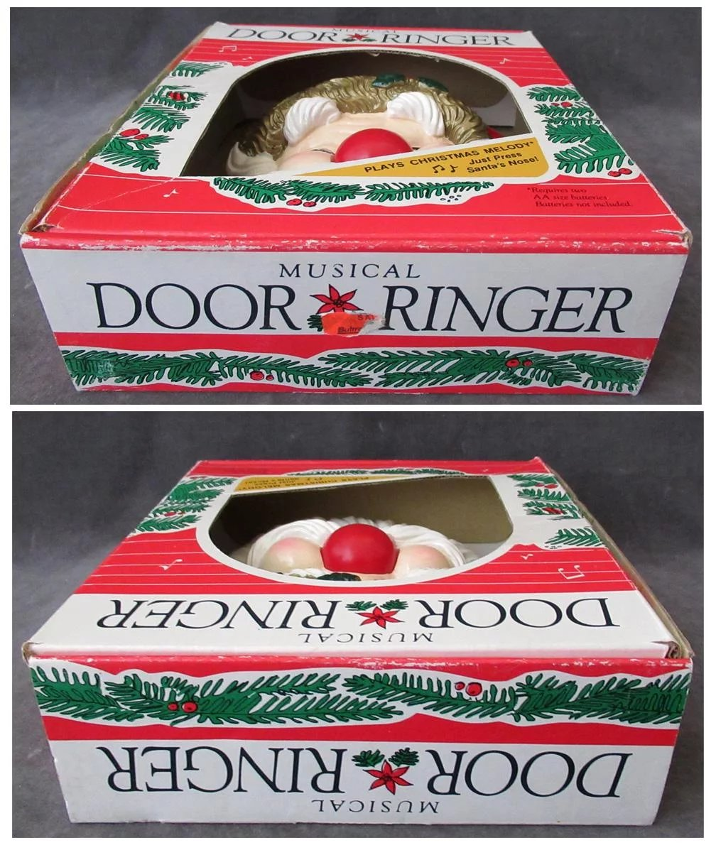 Click to expand  sc 1 st  Ruby Lane & Vintage Santa Claus Door Ringer \u2013 Old Musical Doorbell Christmas ...