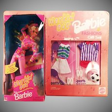 Vintage Workin' Out Barbie Doll and Fashions Gift Set – Soccer and Tennis Clothes