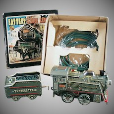 Vintage B.O. Toy Train Set - Battery Cable Express Train with Original Box