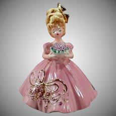 Vintage Josef Original Figurine - Violets - Flower Girl Series