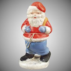 Vintage Christmas Candy Container  - Santa Claus C.C. made in West Germany