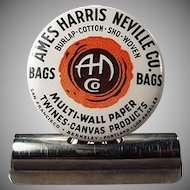 Vintage Celluloid Advertising Paper/Bill Clip - Ames Harris Neville