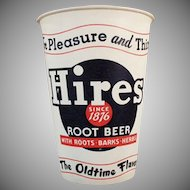 Vintage Hires Root Beer Advertising - Five (5) Dixie Paper Cups