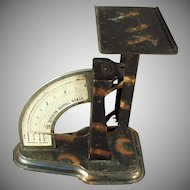 Vintage 1904 Superior Postal Desk Scale - Tiger Stripe Finish - Triner Scale
