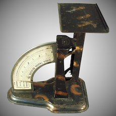 Vintage Superior Postal Scale - 1904 Desk Scale - Tiger Stripe Finish - Triner Scale Company