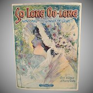 Vintage Sheet Music - So Long Oo-Long - 1920