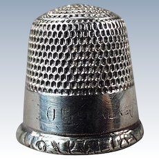 Vintage Sterling Silver Thimble - Goldsmith Stern - Size 10