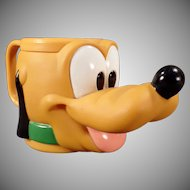 Childs Old Milk Cup - Vintage Disney - Plastic Pluto Mug
