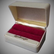 Vintage Ring Box – Lovebright Wedding Set Box - Holds Two Rings