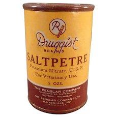 Vintage Saltpetre Tin – Veterinary Medicine Container