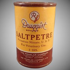 Vintage Saltpetre Tin – Veterinary Medicine Container