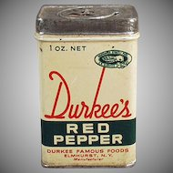 Vintage Spice Tin - Old Durkee's Famous Foods Red Pepper Tin