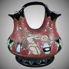 Vintage Amphora Ewer - Made in Czechoslovakia - Kneeling Woman Design