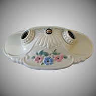 Vintage 2 Bulb Flush Mount Porcelain Ceiling Light Fixture – Beautiful Condition