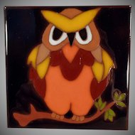 Vintage Art Tile - Colorful Owl Design - Edilgres - Made in Italy