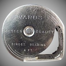 Vintage Steel Tape Measure - 6 Foot Wards Direct Reading