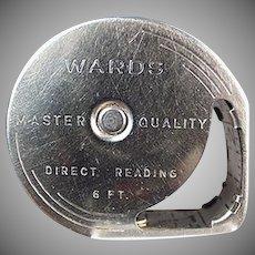 Vintage Steel Tape Measure - 6 Foot Wards Direct Reading