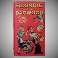 "Vintage ""New"" Better Little Book – 1949 Blondie and Dagwood – Some Fun!"