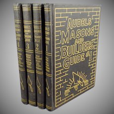 Vintage Audels 4 Book Set - Masons and Builders Guide - 1950's