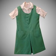 Vintage Girl Scout Uniform - 1970's Three Piece Outfit - Size 10